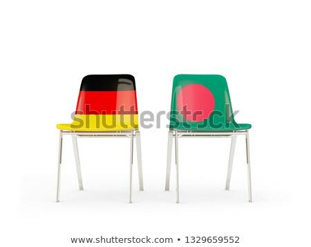 Kettő székek zászlók Németország Banglades izolált Stock fotó © MikhailMishchenko