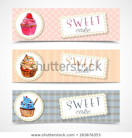 Set of Horizontal Banners about confectionary Stock photo © netkov1