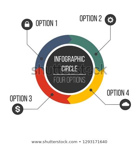 Körkörös nyilak infografika extra ikonok diagram Stock fotó © kyryloff