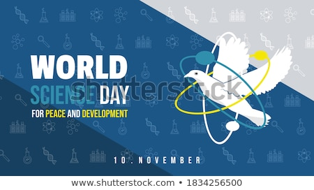 world science day banner of scientist people stock photo © cienpies