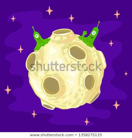 Ufo pływające około powierzchnia planety ilustracja Zdjęcia stock © colematt