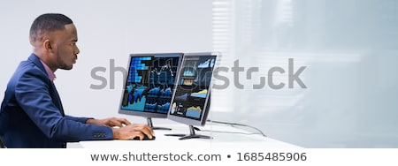 Two Businesspeople Examining Graph On Computer Stock photo © AndreyPopov