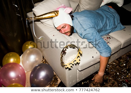 Couch party Stock photo © pressmaster