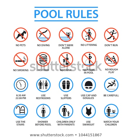 Lifeguards not provided sign Stock photo © benkrut
