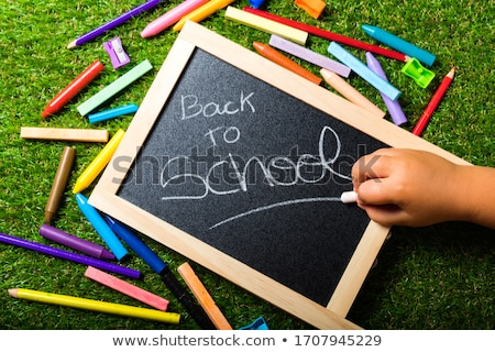 Back to school supplies vivid arrangement Stock photo © lunamarina