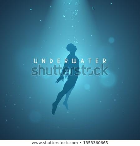 insanlar · dalış · mayo · maske · tüp · vektör - stok fotoğraf © robuart