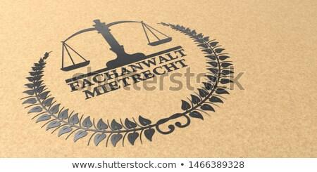 Specialized Lawyer Law Of Tenancy Stock photo © limbi007