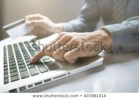 Close-up keyboard with security concept Stock photo © ra2studio