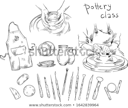 Hobby Craft, Mold Pot, Handmade Crockery Vector Stock photo © robuart