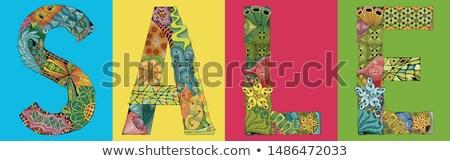 Palabra venta vector objeto decoración arte Foto stock © Natalia_1947