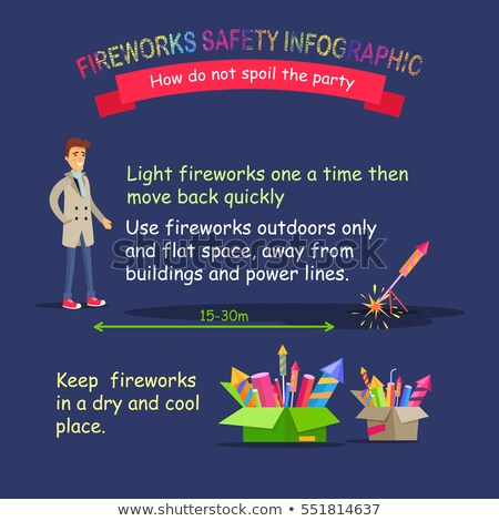 Fireworks Safety Infographic. Right Behaviour Stock photo © robuart