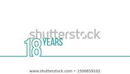 18 years anniversary or birthday linear outline graphics can be used for printing materials brouc stock photo © kyryloff