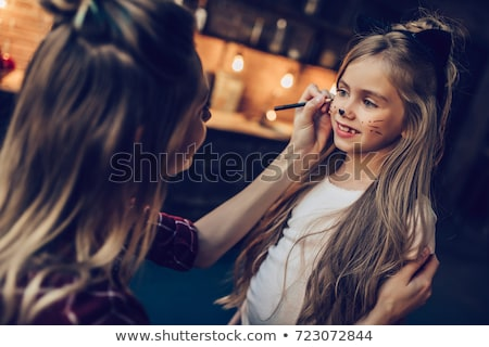 boldog · család · halloween · boldog · nő · gyerekek · sütőtök - stock fotó © choreograph