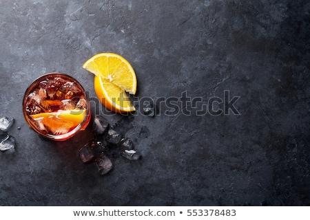 Negroni cocktail glass Stock photo © karandaev