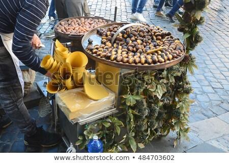 Pörkölt vásár Róma Olaszország közelkép utcai étel Stock fotó © nito