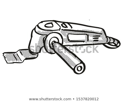 Fonction outil pouvoir équipement cartoon rétro Photo stock © patrimonio