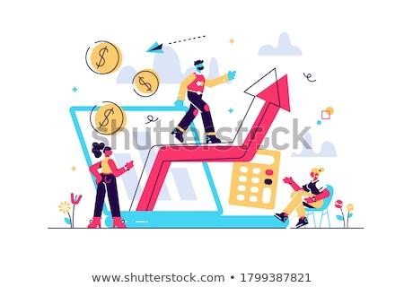 Demanda planificación apretón de manos laptops futuro analítica Foto stock © RAStudio