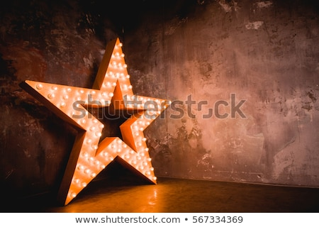 merry christmas neon sign red with decor stock photo © voysla