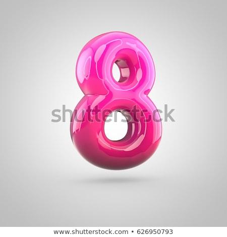 Rózsaszín betűtípus szám nyolc 3D renderelt kép Stock fotó © djmilic
