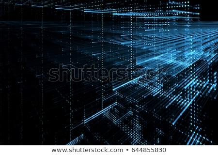 Digitális részecskék kitörés technológia absztrakt terv Stock fotó © SArts