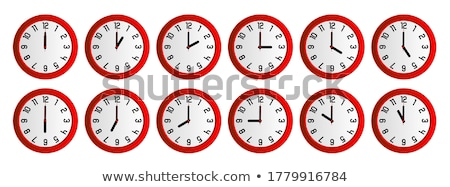 Analog ściany zegar odizolowany biały działalności Zdjęcia stock © szefei