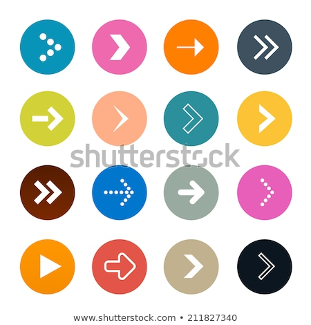 Richtig Pfeile Symbol rot blau Farben Stock foto © kyryloff