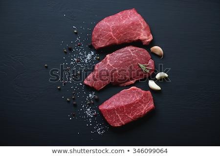 クローズアップ 牛肉 赤 肉 黒コショウ 食品 ストックフォト © dariazu