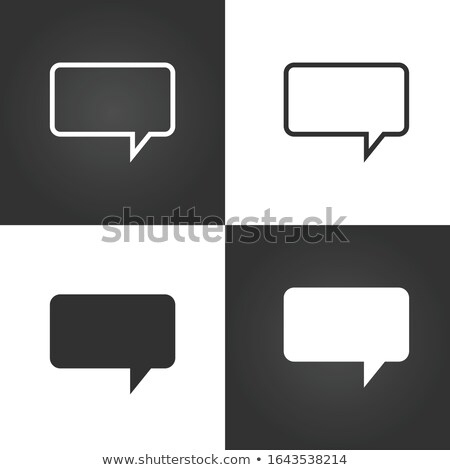 Speech bubble icon for web, apps etc. Stock Vector illustration isolated on white background. Stock photo © kyryloff