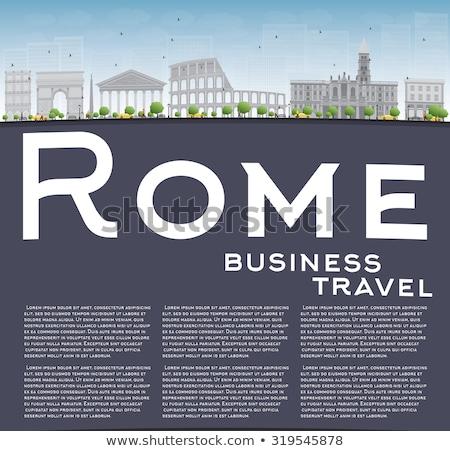 Róma sziluett szürke copy space üzleti út turizmus Stock fotó © ShustrikS