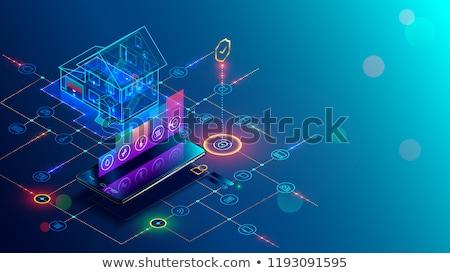 Megfigyelés kamera távirányító okos otthon biztonság Stock fotó © robuart