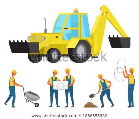 Person with Building Material in Carriage Vector Stock photo © robuart