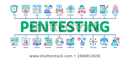 Pentesting Software Minimal Infographic Banner Vector Stock photo © pikepicture