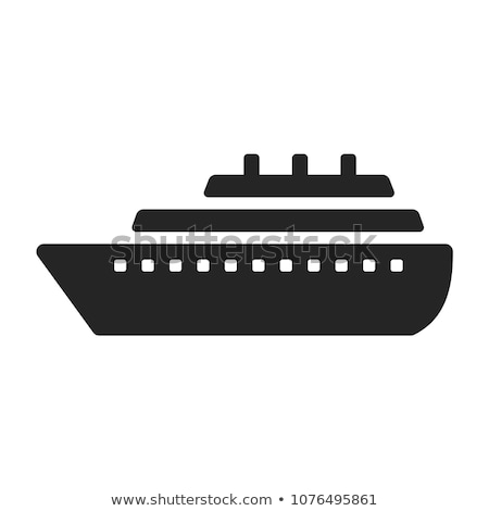 Cruiseschip icon vector schets illustratie teken Stockfoto © pikepicture
