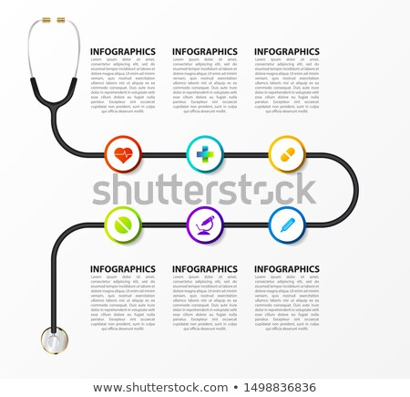 Colorful diagram, heart infographic template. Timeline with 6 hearts. Love workflow process for vale Stock photo © ukasz_hampel