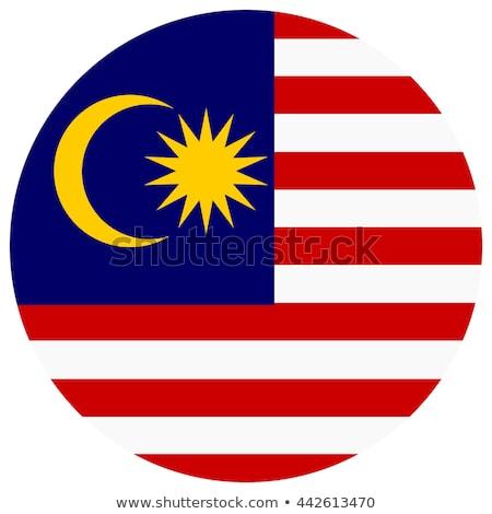 Малайзия флаг белый знак путешествия звездой Сток-фото © butenkow