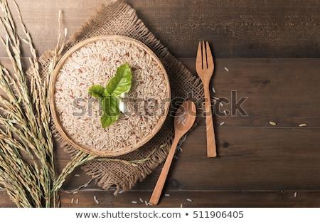 marrón · arroz · principal · alimentos · chino · salud - foto stock © Ansonstock