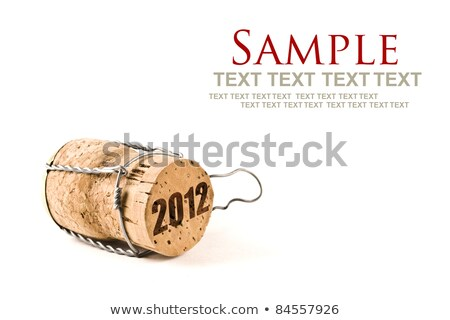 2012 felirat bor alkohol ünneplés dugó Stock fotó © timbrk