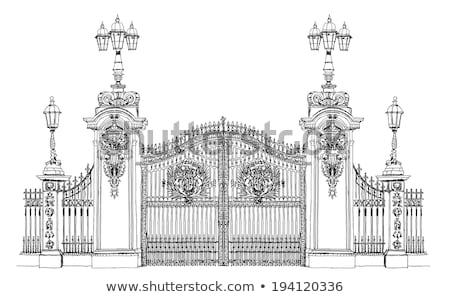 Clássico palácio portão ferro estilo céu claro Foto stock © sahua