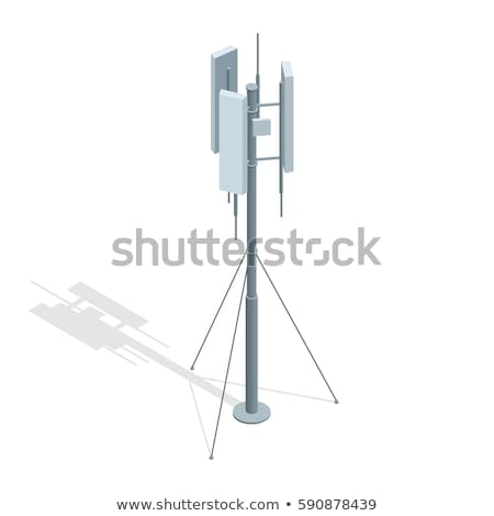 Telefonu komórkowego komunikacji anteny wieża telewizji budowy Zdjęcia stock © pinkblue