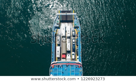 Balsa carros escócia passageiros Foto stock © Hofmeester
