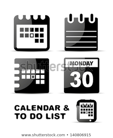 abstract glossy calender icon Stock photo © pathakdesigner