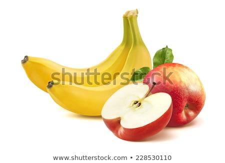 банан яблоко фрукты белый здоровья фон Сток-фото © Borissos