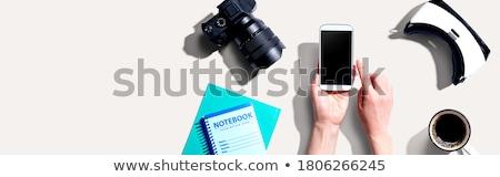 デジタル カメラ 背面図 孤立した 白 浅い ストックフォト © broker
