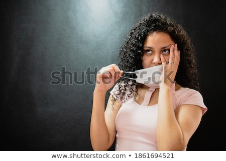 Afro woman and man forehead against forehead Stock photo © photography33