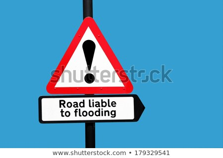 út áradás figyelmeztető jel kék ég terv kék Stock fotó © latent