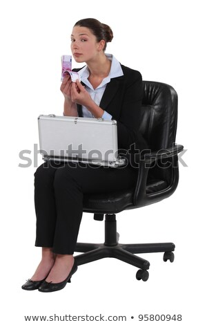 woman sat with briefcase full of money stock photo © photography33