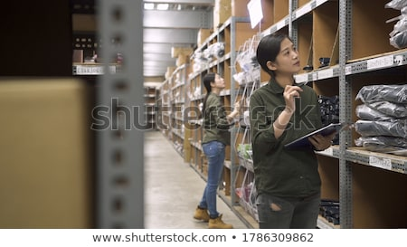 Two warehouse workers taking inventory Stock photo © photography33