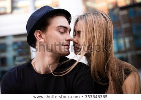 Casal ao ar livre retrato jovem feliz Foto stock © marylooo