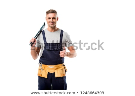 plumber holding a pipe wrench stock photo © photography33