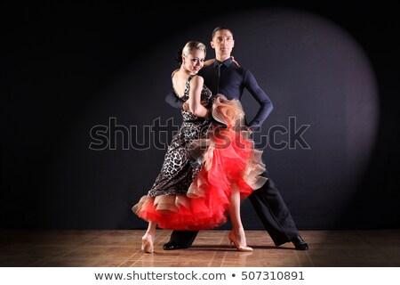 táncos · portré · férfi · nő · tánc · tangó - stock fotó © feedough